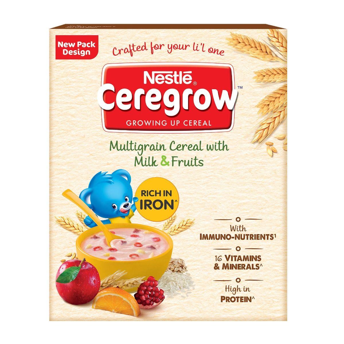 Nestle Ceregrow Multigrain Milk & Fruits Baby Cereal, 300 gm Refill Pack
