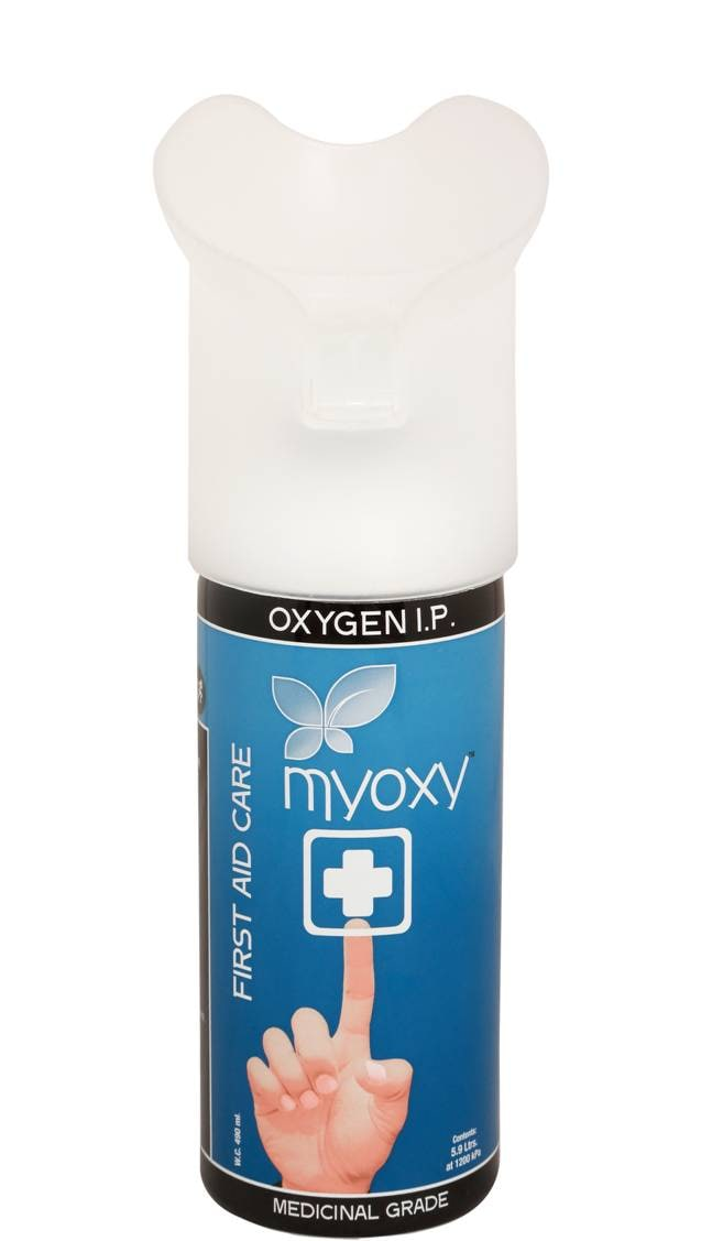 Myoxy Oxygen I.P Disposable Cans, 1 Count