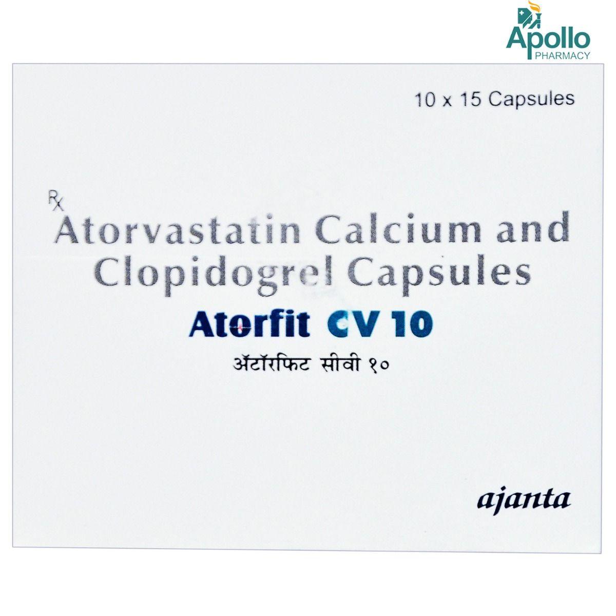 Atorfit CV 10 Capsule 15's