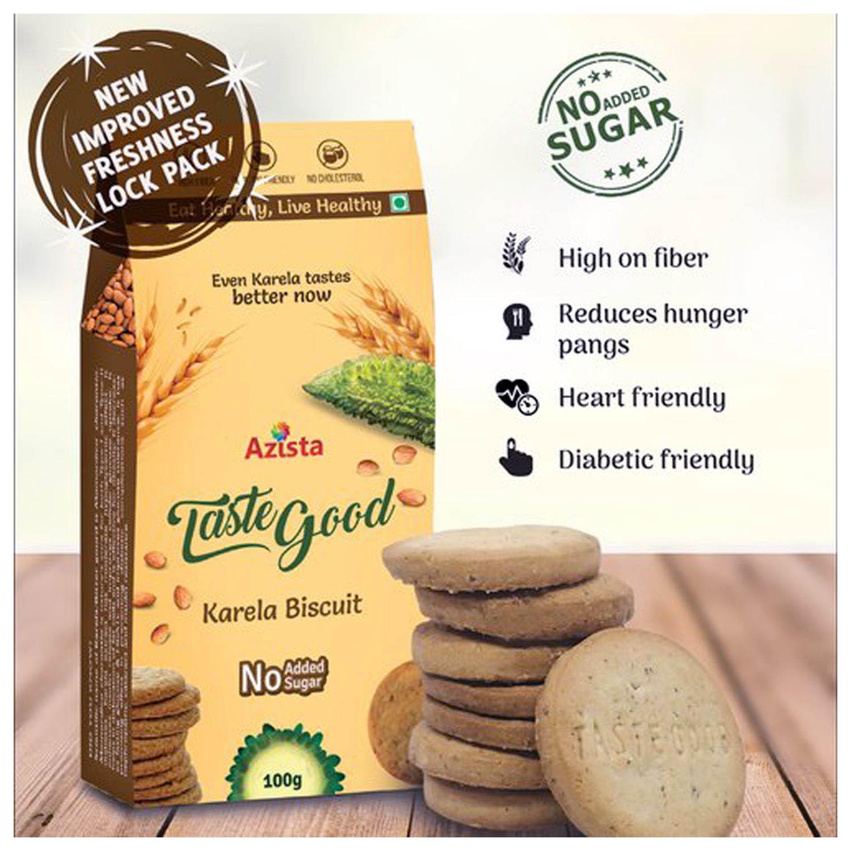 Azista Taste Good Karela Biscuit, 100 gm