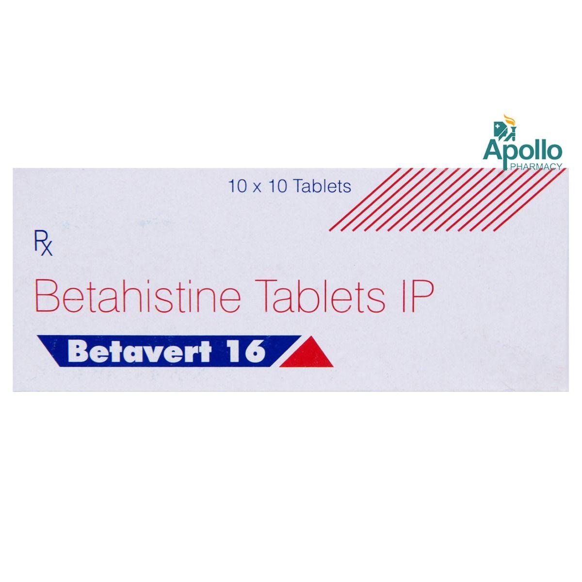 Betavert 16mg Tablet 10's