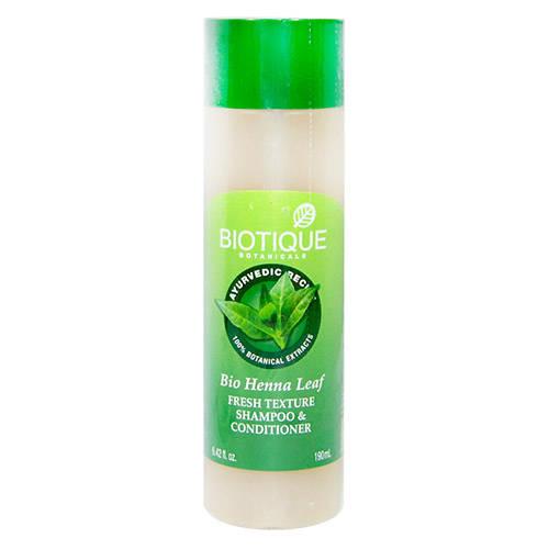 Biotique Bio Henna Leaf Fresh Texture Shampoo & Conditioner, 190 ml