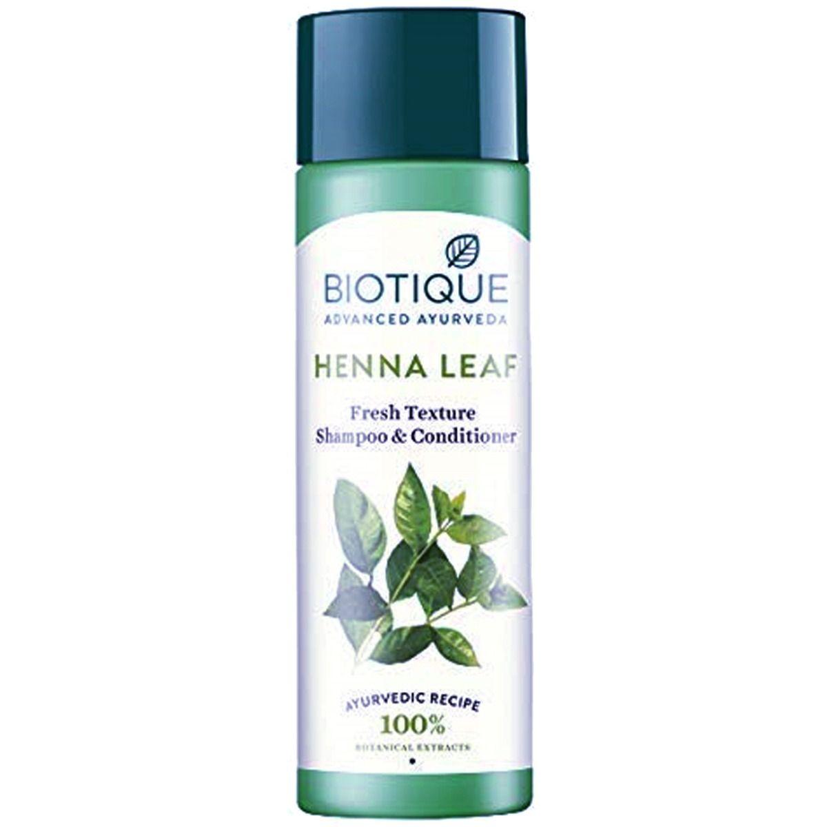 Biotique Henna Leaf Fresh Texture Shampoo & Conditioner, 120 ml
