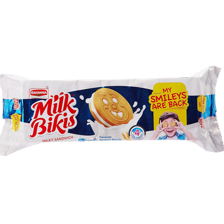 Britannia Milk Bikis Cream Biscuits, 100 gm