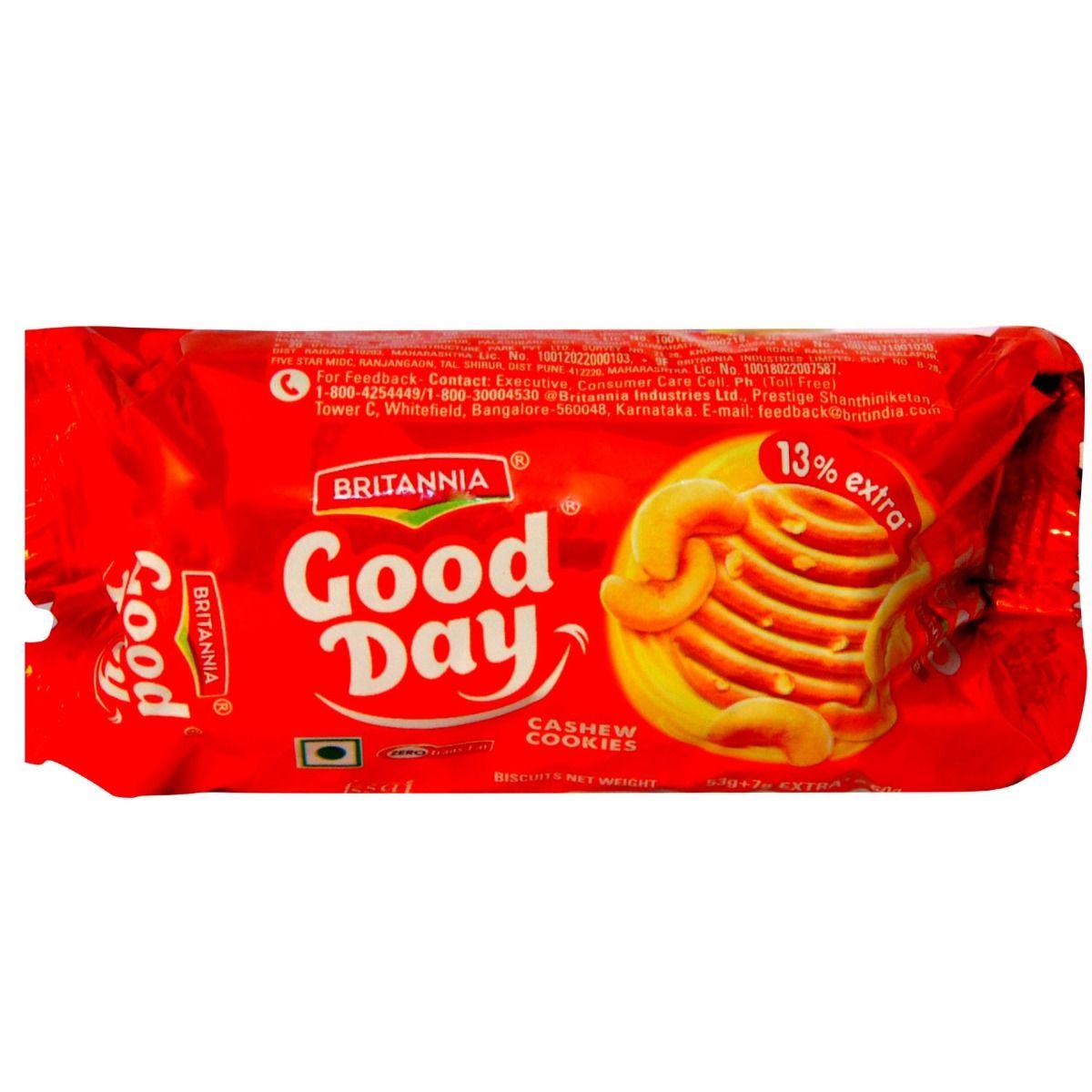 Britannia Good Day Cashew Cookies, 58 gm