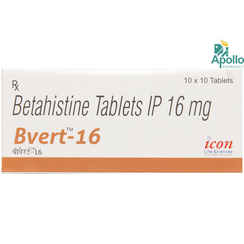 Bvert 16 Tablet 10's