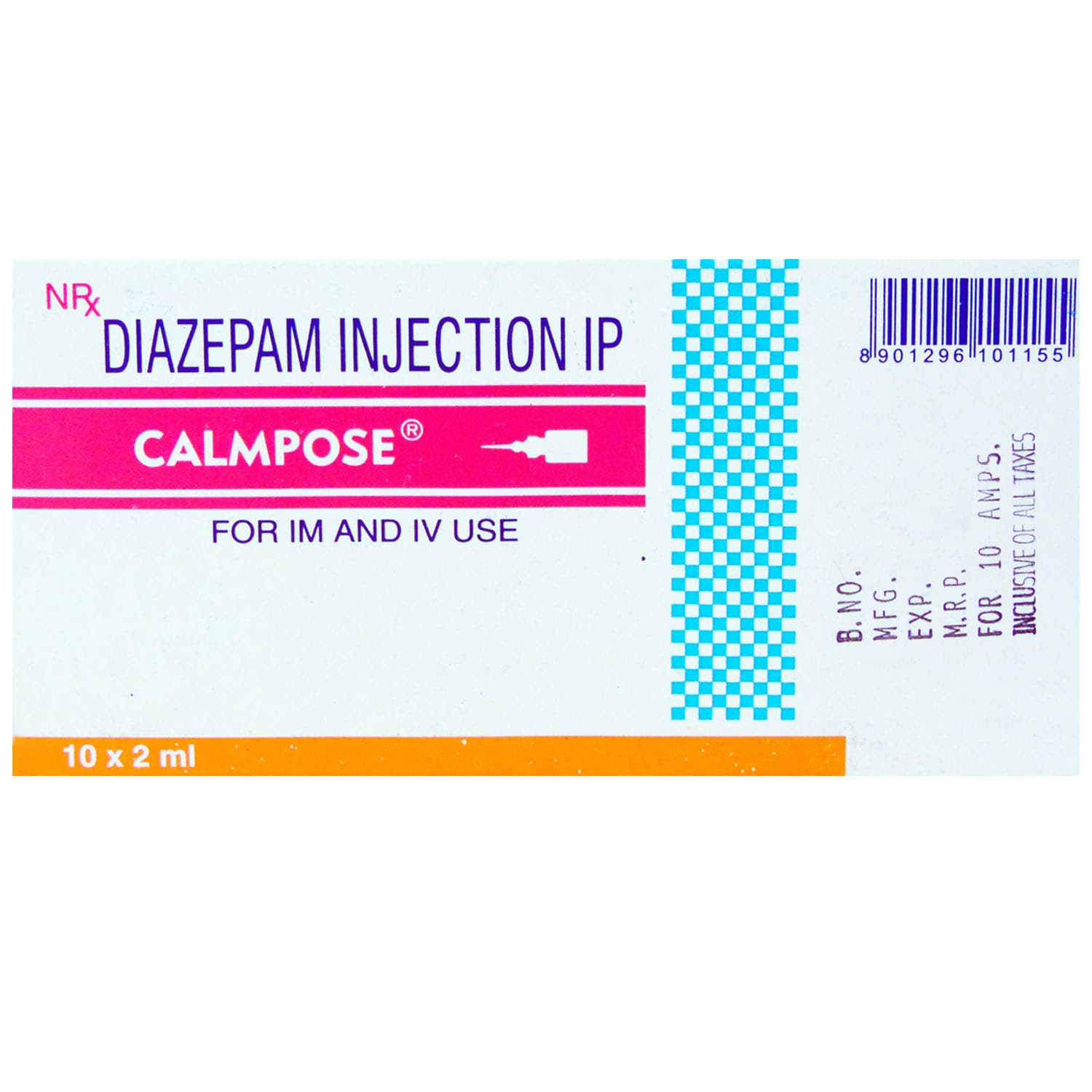 CALMPOSE INJECTION 2ML