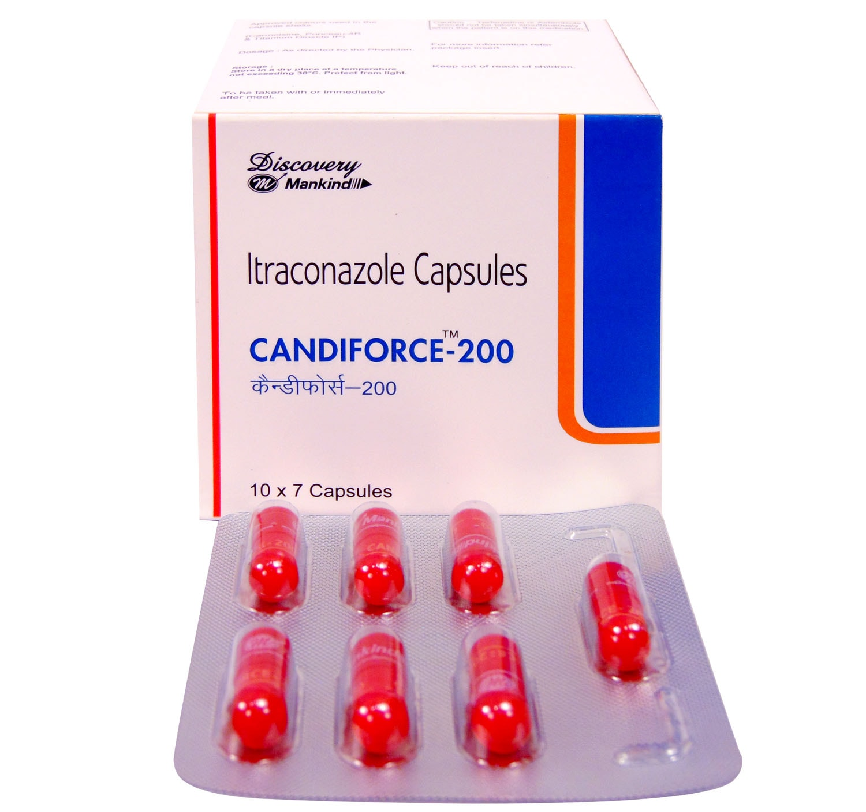 Candiforce 200mg Capsule 7's