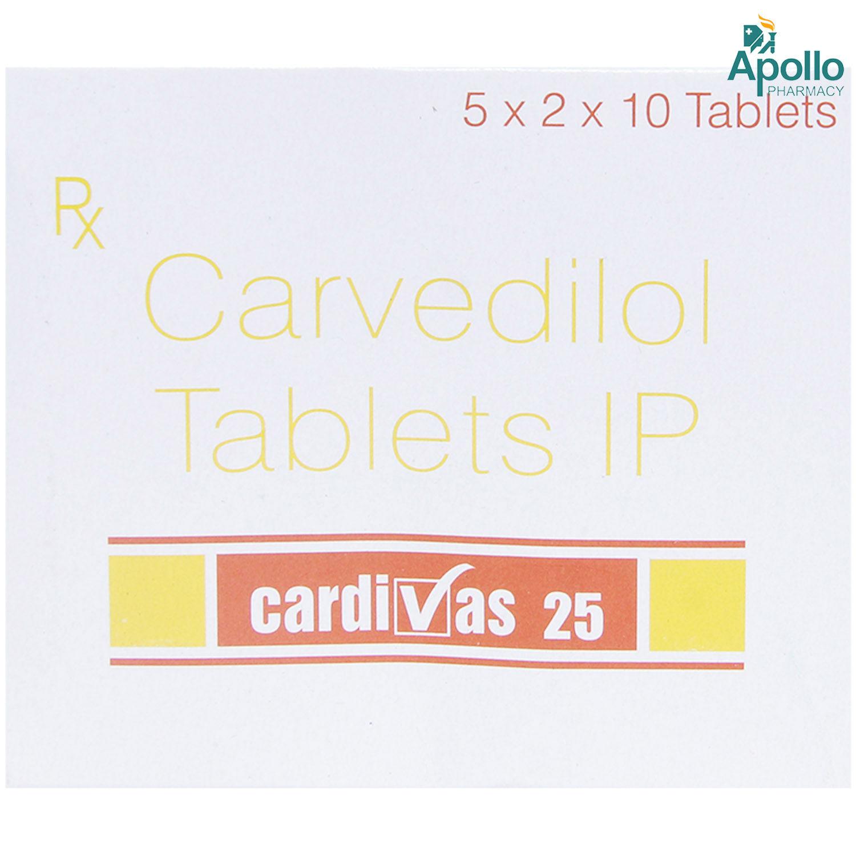 CARDIVAS 25MG TABLET