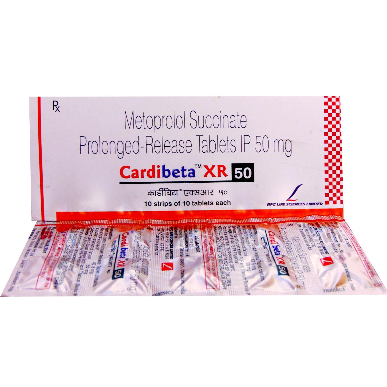 Cardibeta XR 50 Tablet 10's