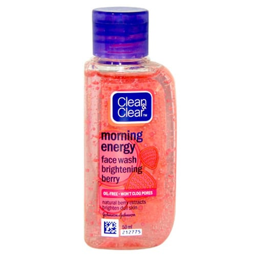 Clean & Clear Morning Energy Brightening Berry Face Wash, 50 ml