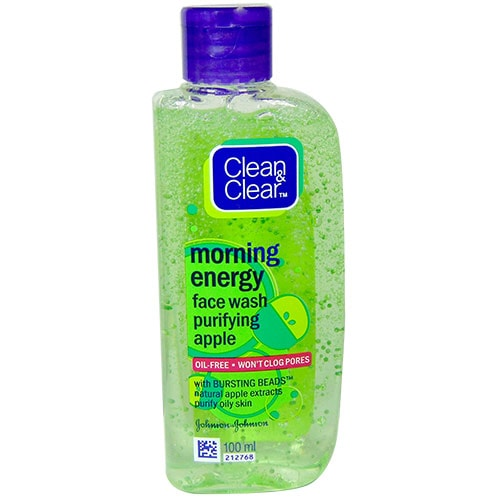 Clean & Clear Morning Energy Purifying Apple Face Wash, 100 ml