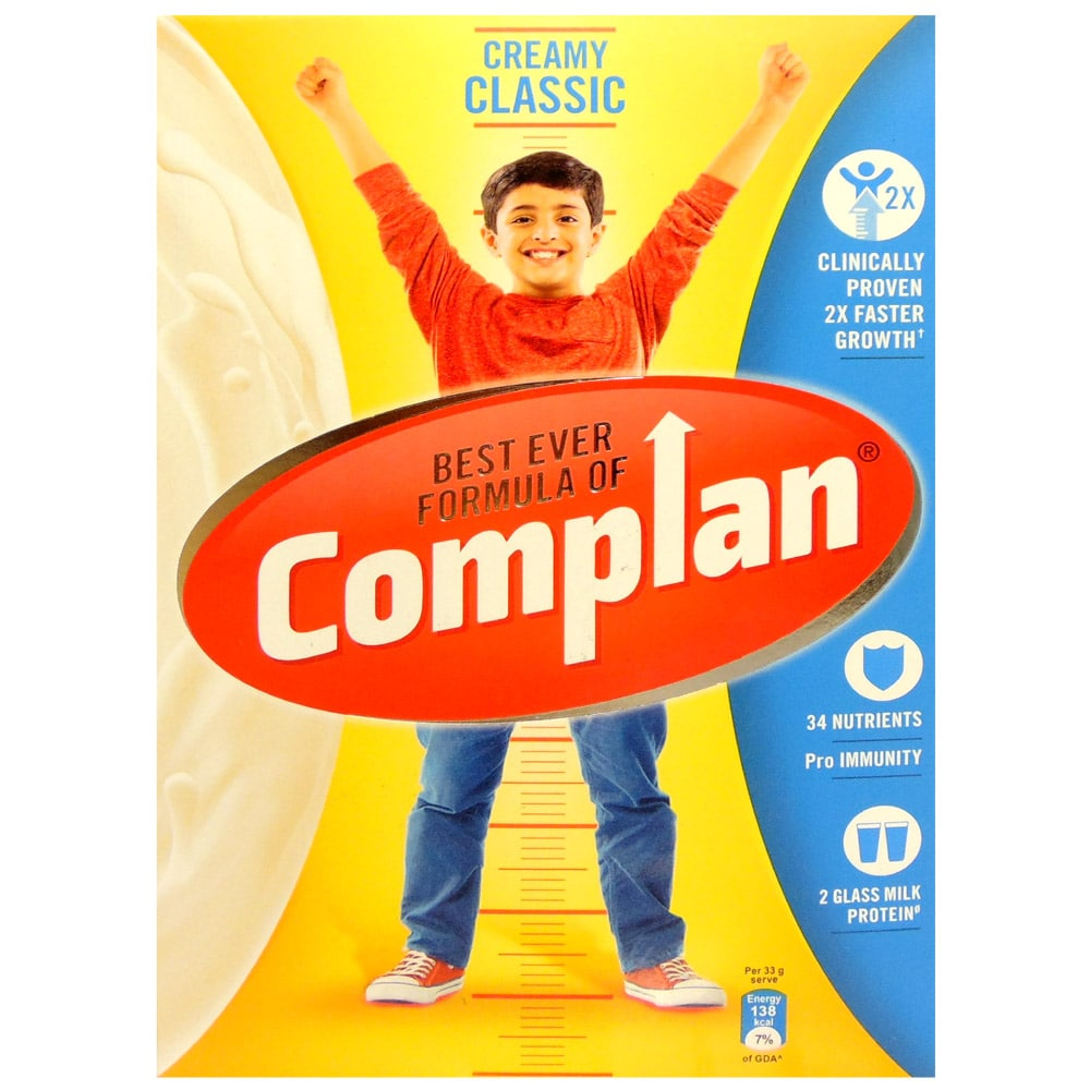 Complan Creamy Classic Flavoured Health & Nutrition Drink, 500 gm Refill Pack