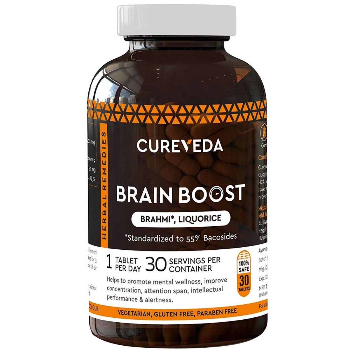 Cureveda Brain Boost, 30 Tablets