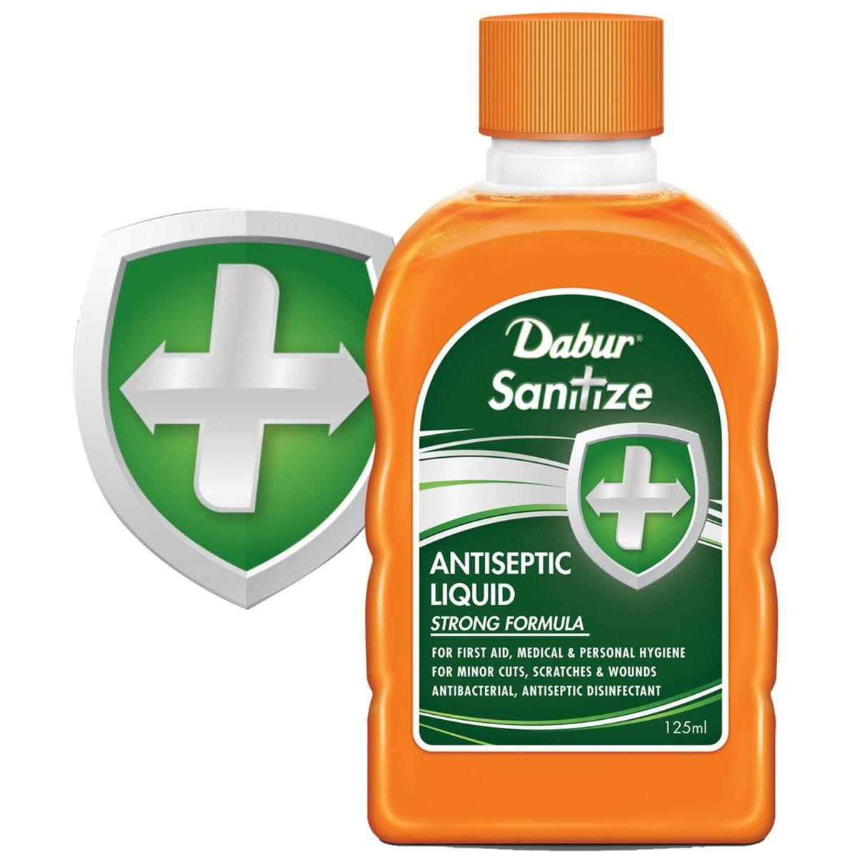 Dabur Sanitize Antiseptic Liquid, 125 ml