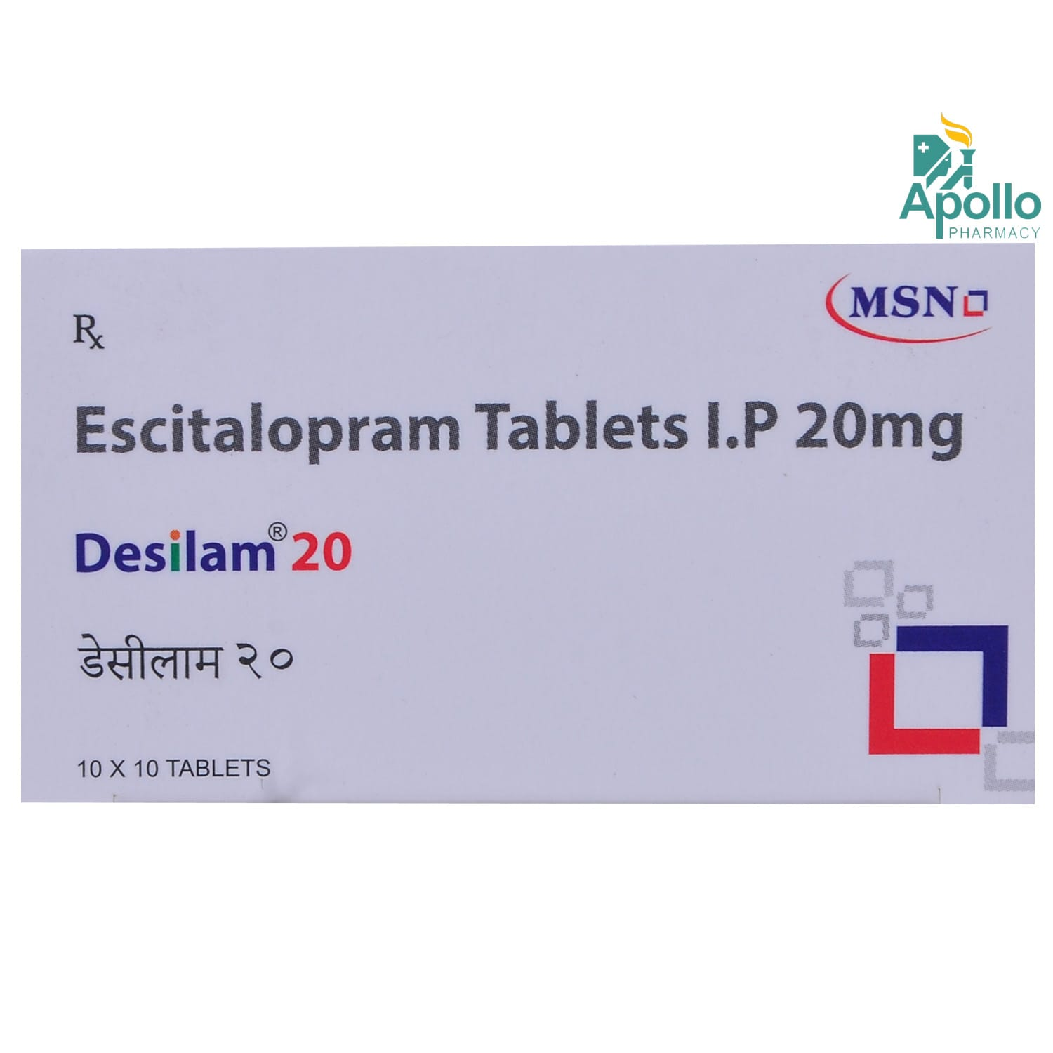Desilam 20 Tablet 10's