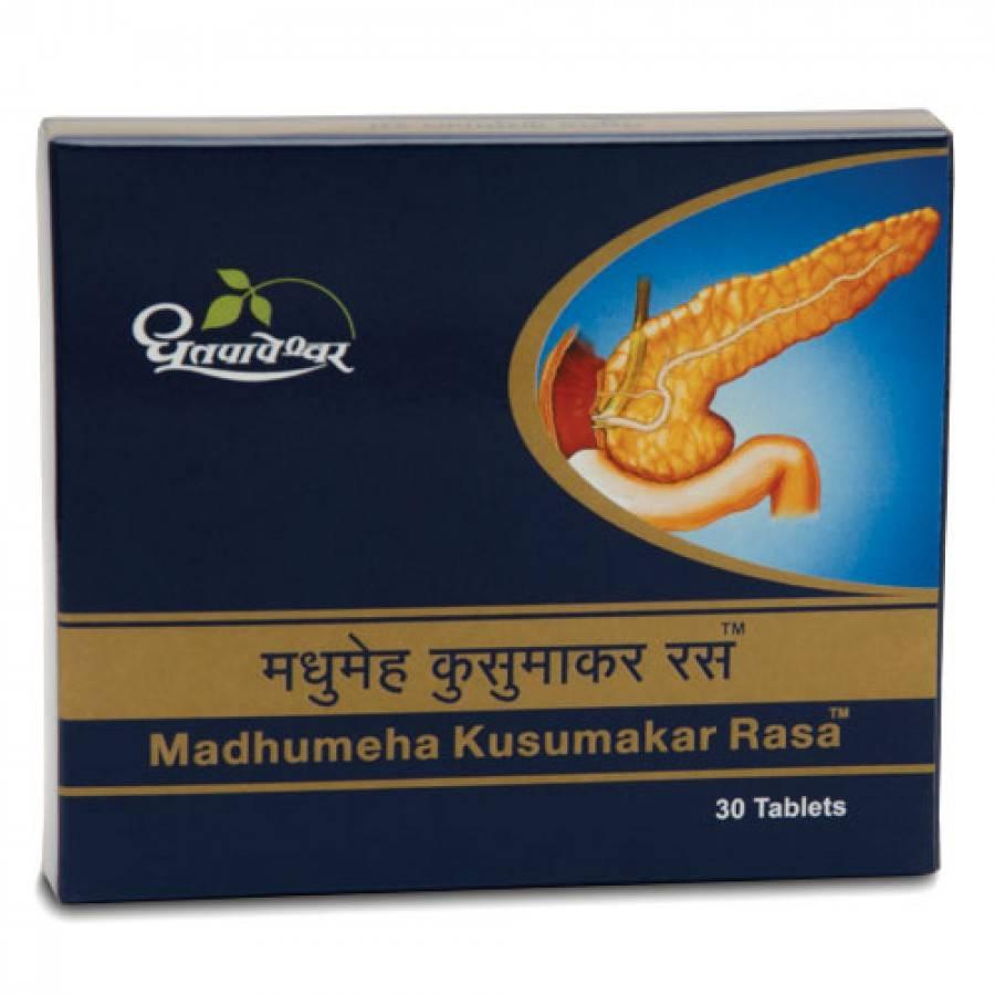 Dhootapapeshwar Madhumeha Kusumakar Rasa, 30 Tablets