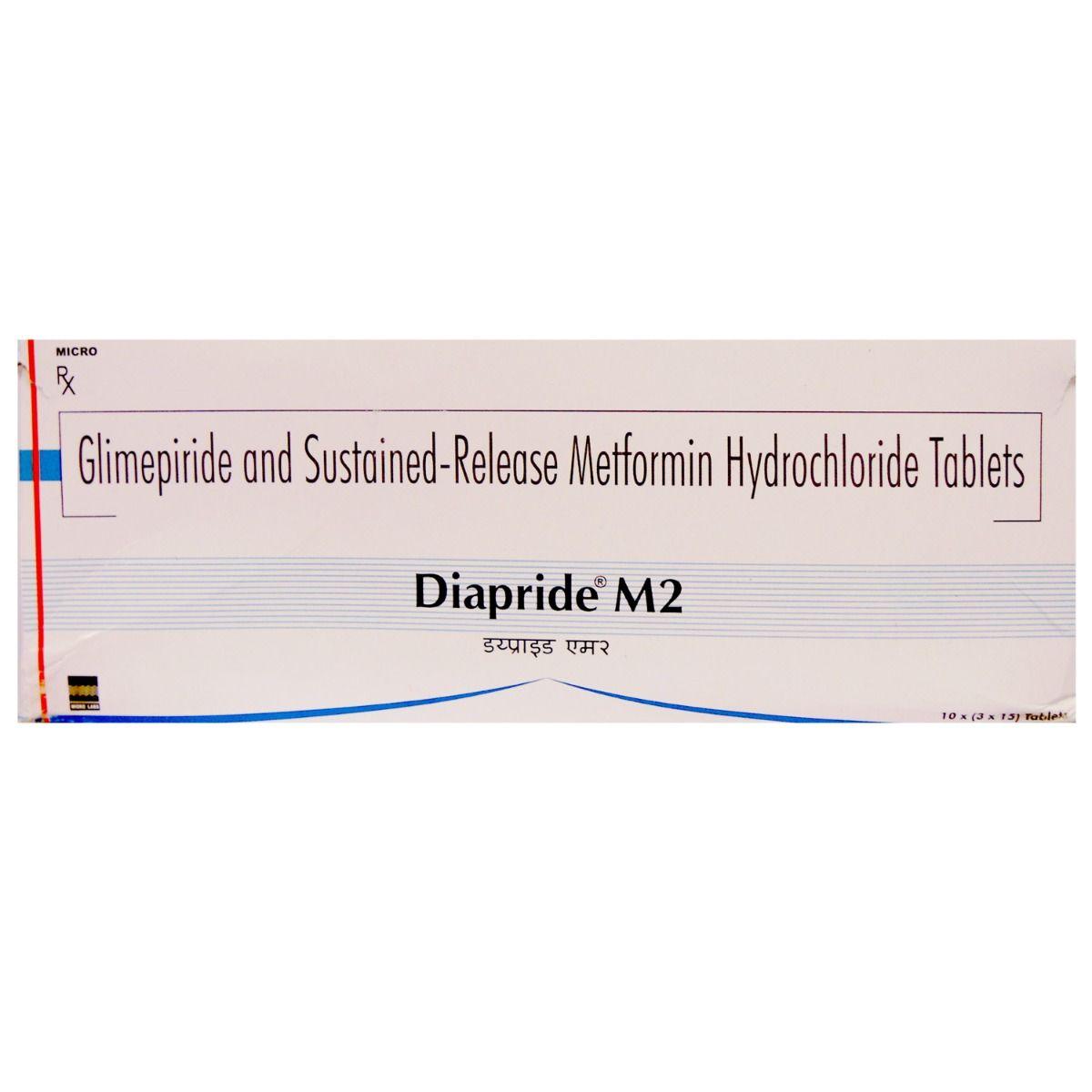 Diapride M 2 Tablet 15's