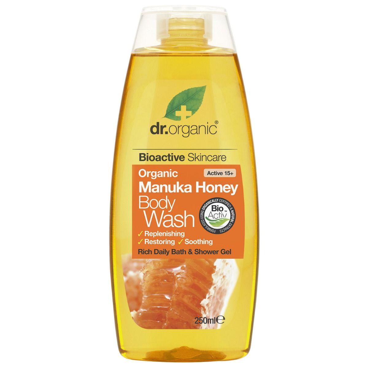 Dr.Organic Manuka Honey Body Wash, 250 ml