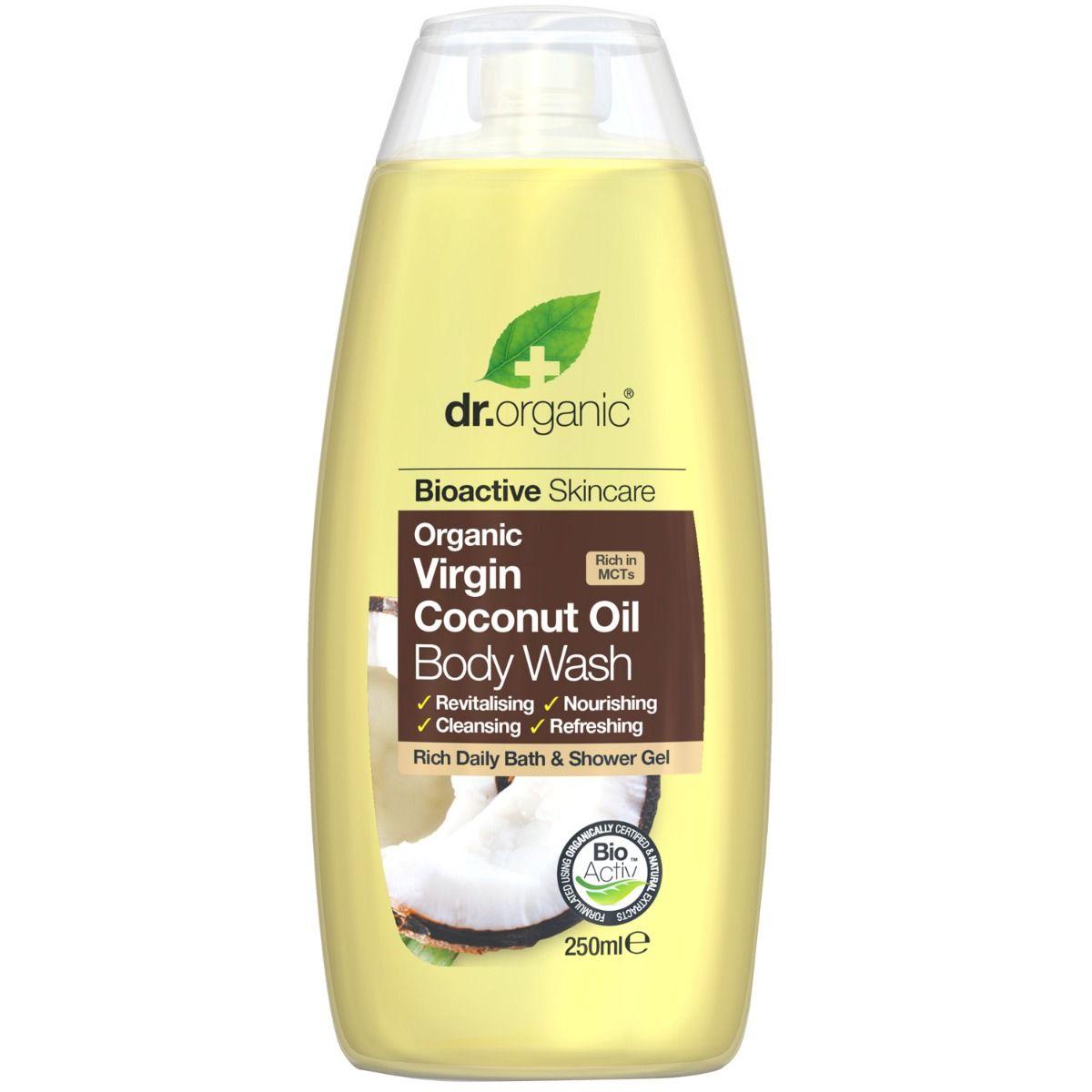 dr Organic Virgin Coconut Oil Body Wash, 250 ml