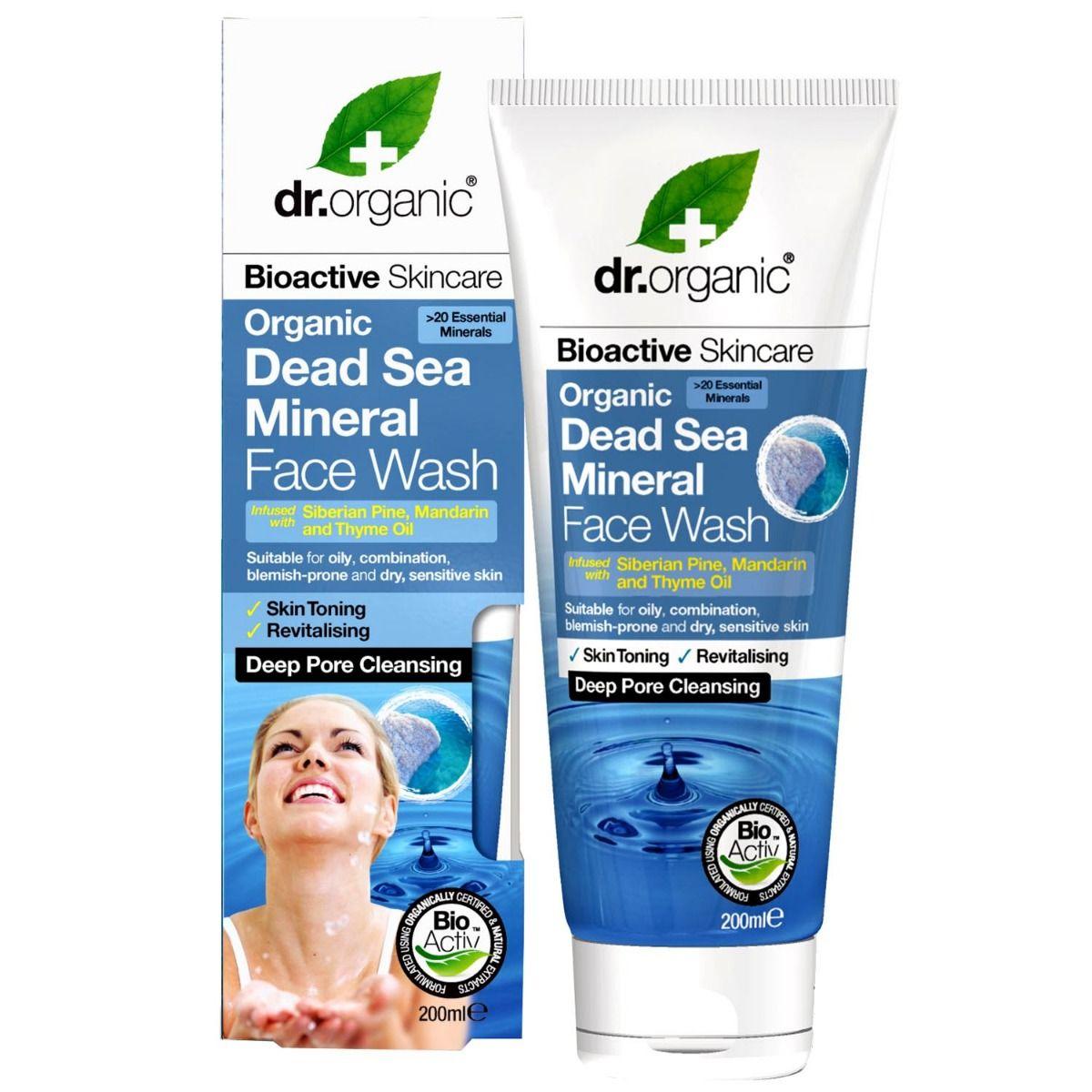 Dr.Organic Dead Sea Mineral Face Wash, 200 ml