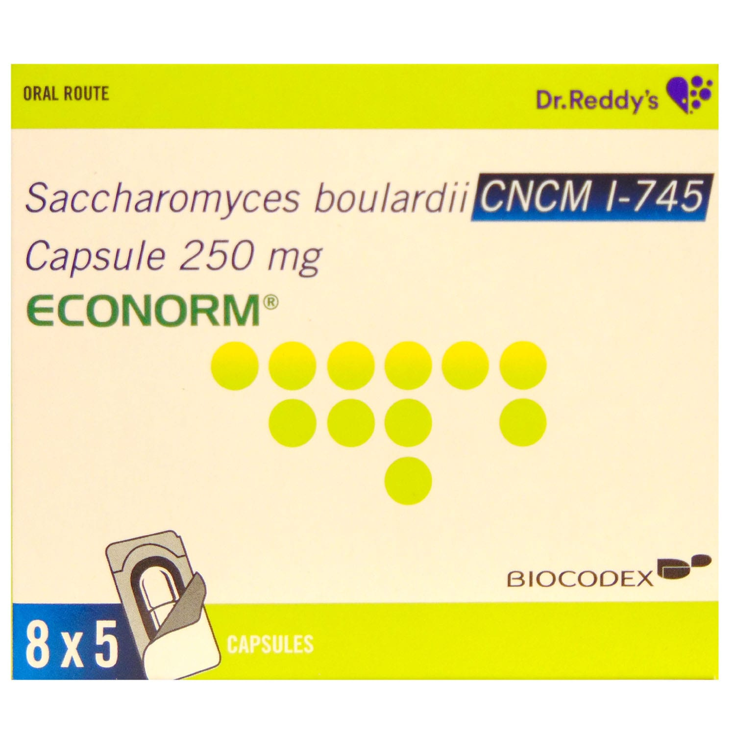 Econorm 250mg Capsule 5's