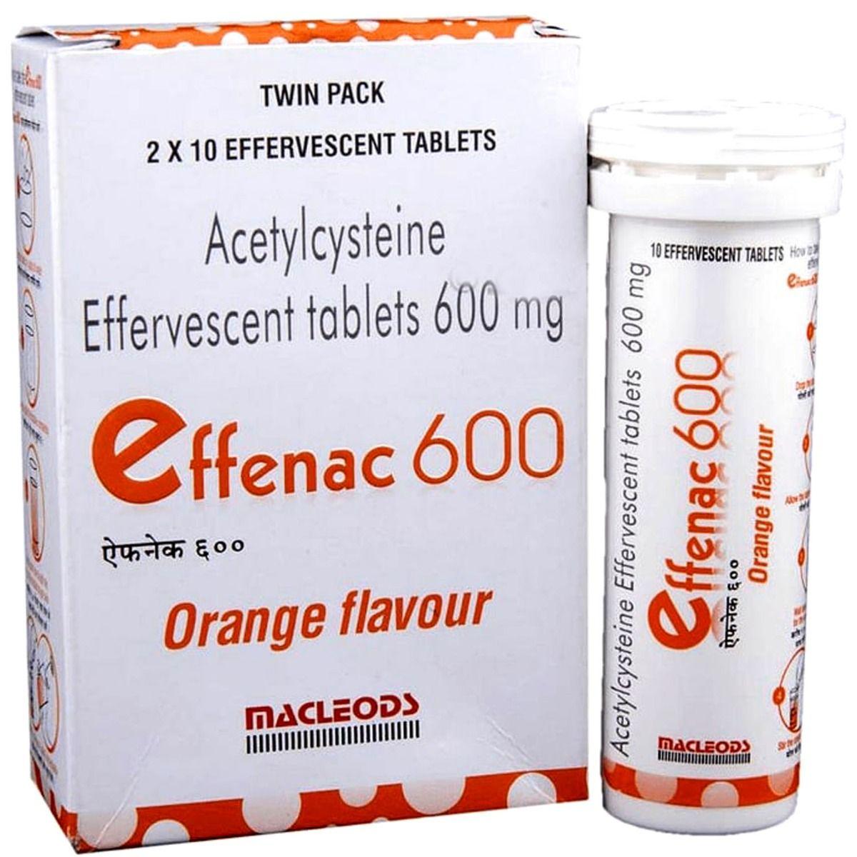 Effenac 600 Orange Effervescent Tablet 10's