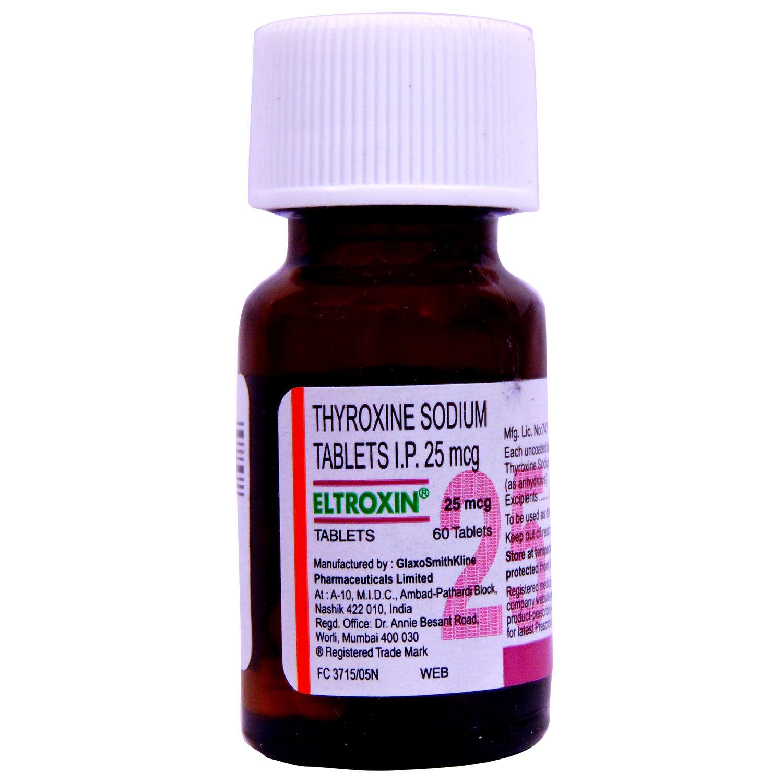 Eltroxin 25 mcg Tablet 60's
