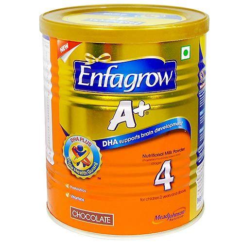 Enfagrow A+ Nutritional Chocolate Flavour Milk Powder, Stage 4, 2+ Years, 400 gm Tin