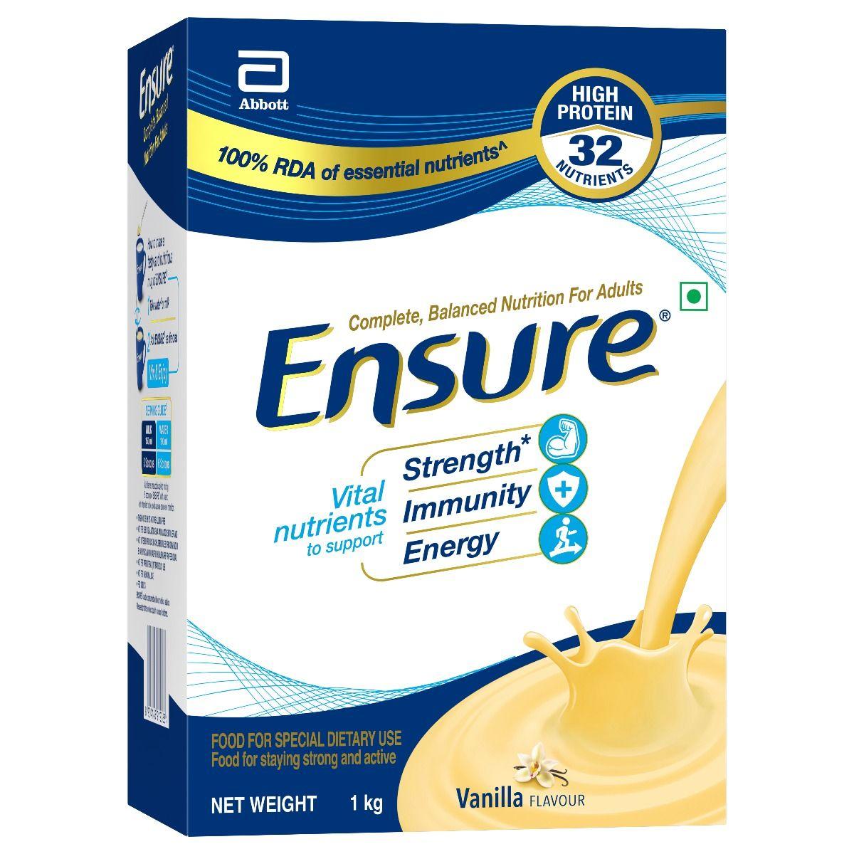 Ensure Vanilla Flavoured Powder, 1 Kg Refill Pack