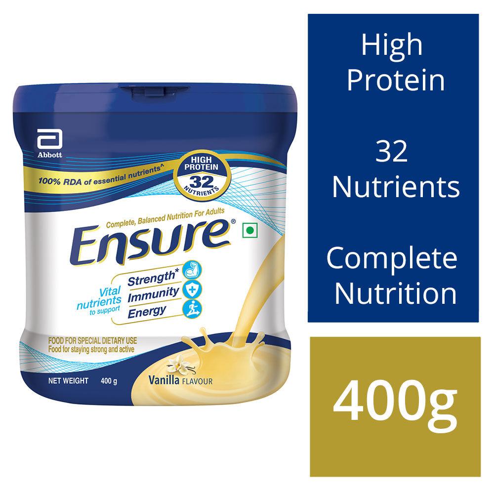 Ensure Vanilla Flavoured Powder, 400 gm Tin