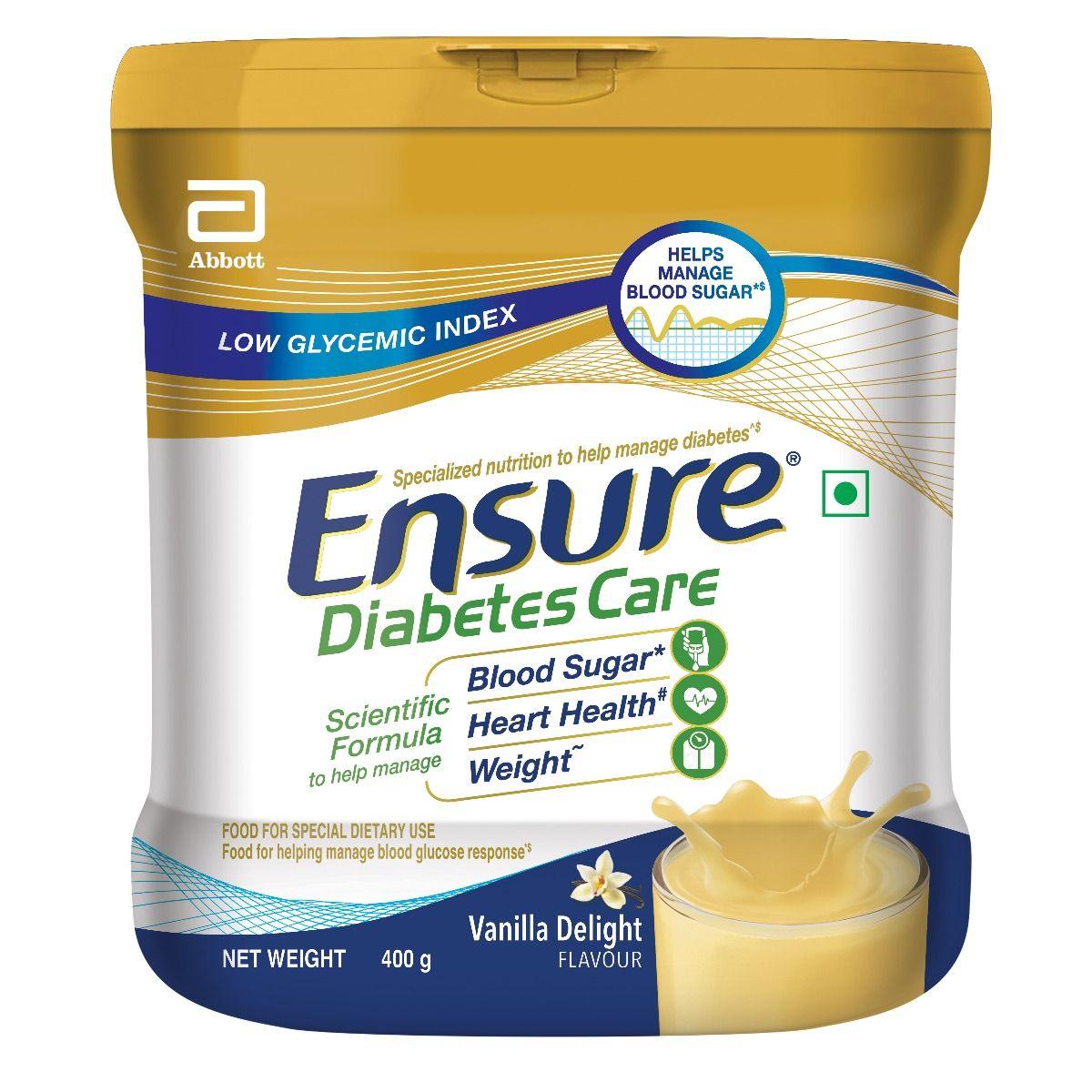 Ensure Vanilla Delight Flavoured Diabetes Care Powder, 400 gm Tin