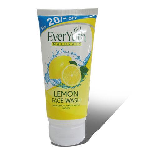 Everyuth Naturals Lemon Face Wash, 150 gm