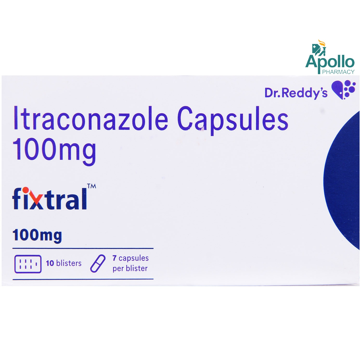 FIXTRAL 100MG CAPSULE 7'S