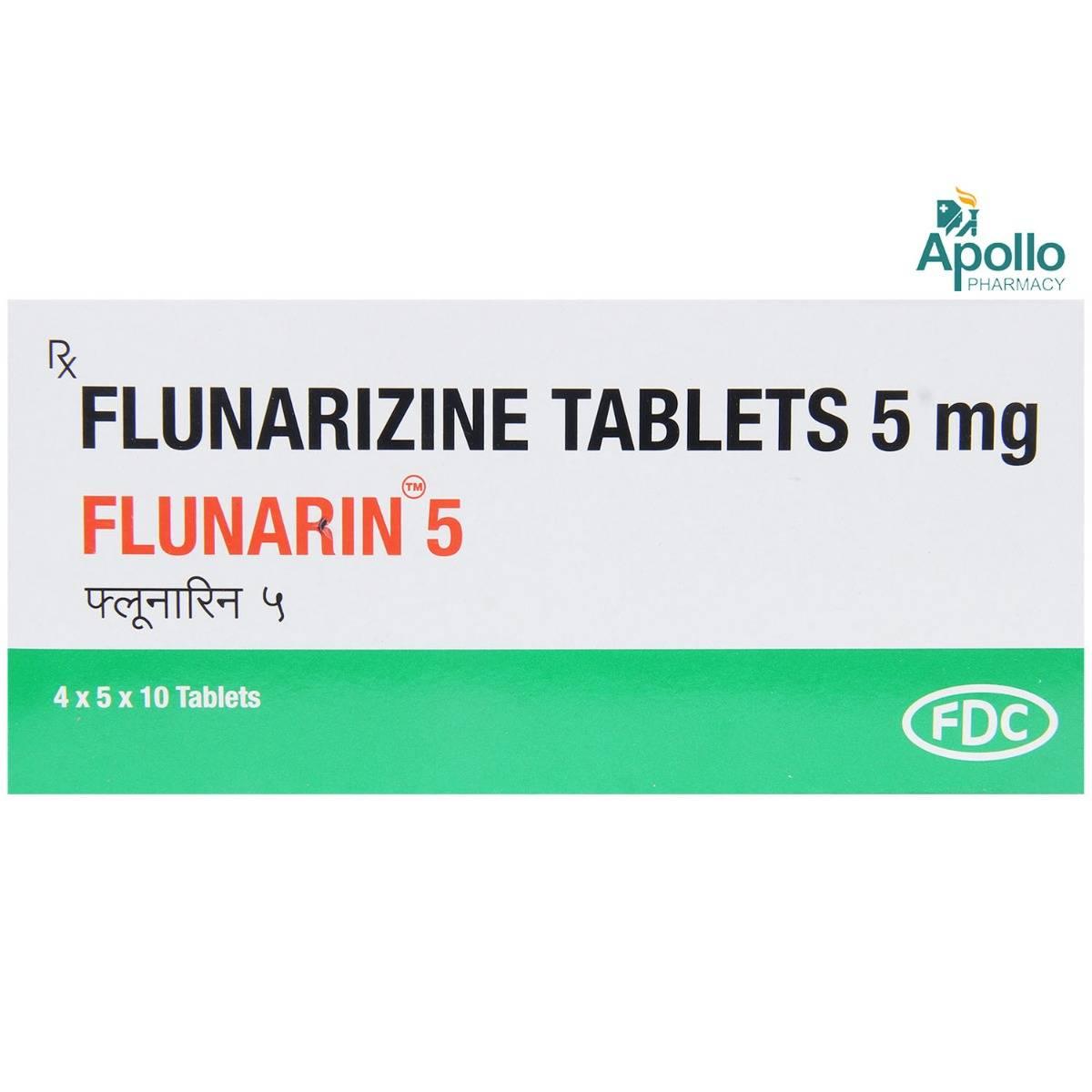 Flunarin 5mg Tablet 10's