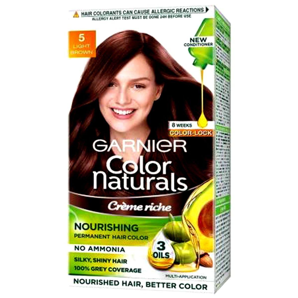 Garnier Color Naturals Cr?e Rich Light Brown, Shade 5