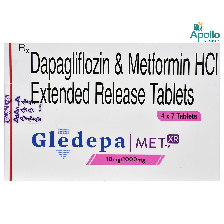 GLEDEPA MET XR 10/1000MG TABLET 7'S