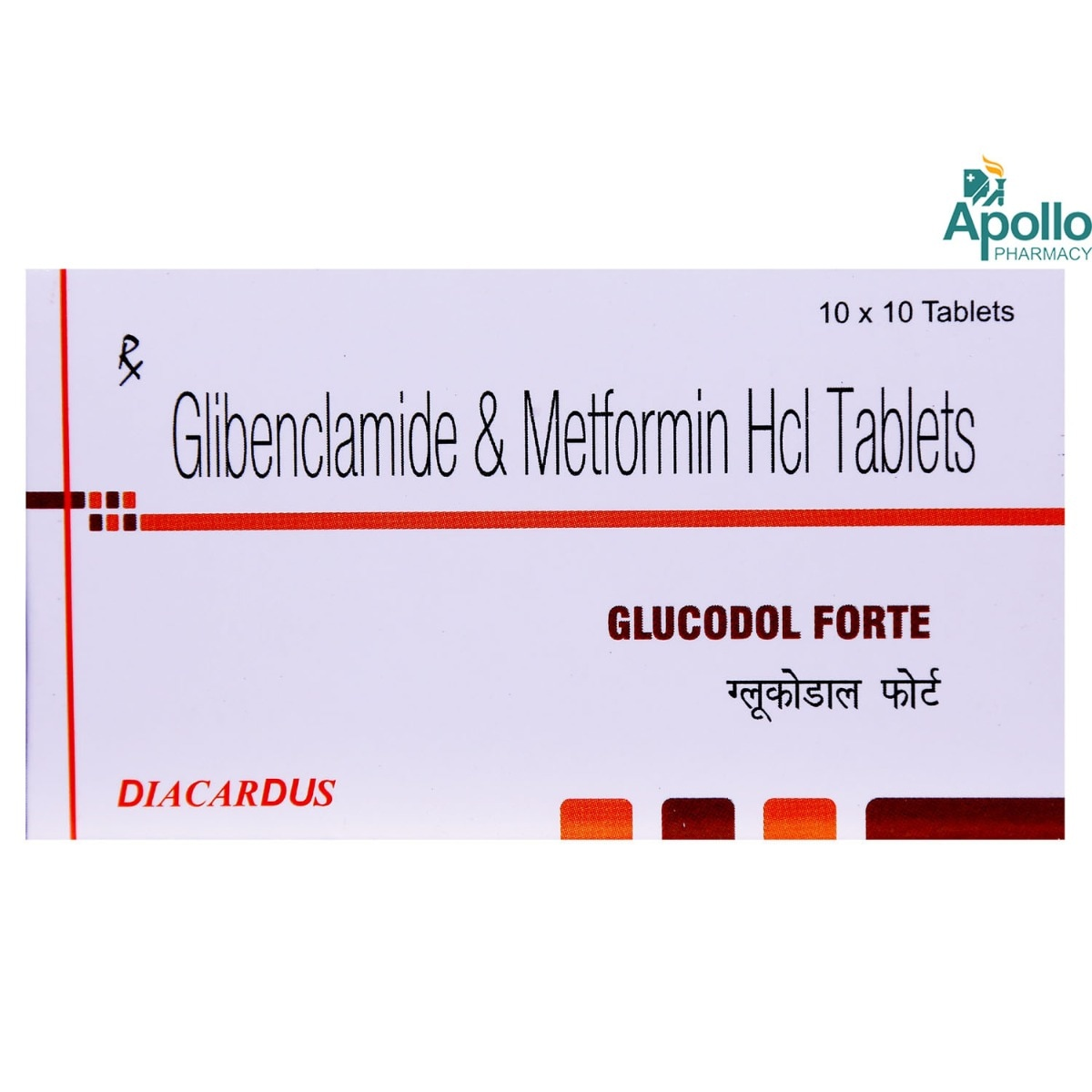 Glucodol Forte Tablet 10's