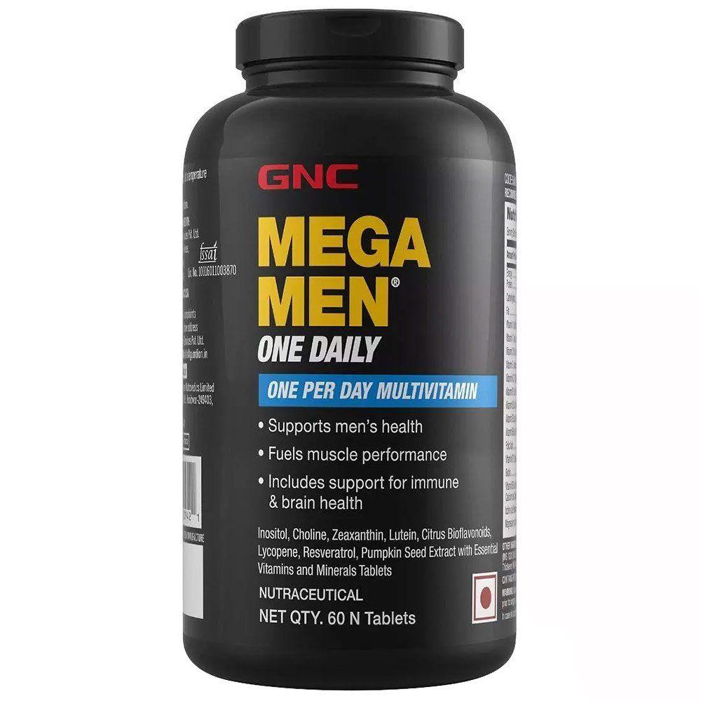 GNC Mega Men One Daily Multivitamin, 60 Tablets