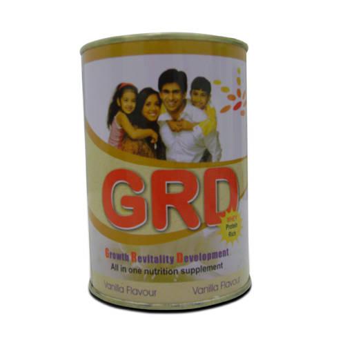 Grd Vanilla Flavoured Powder, 200 gm Tin