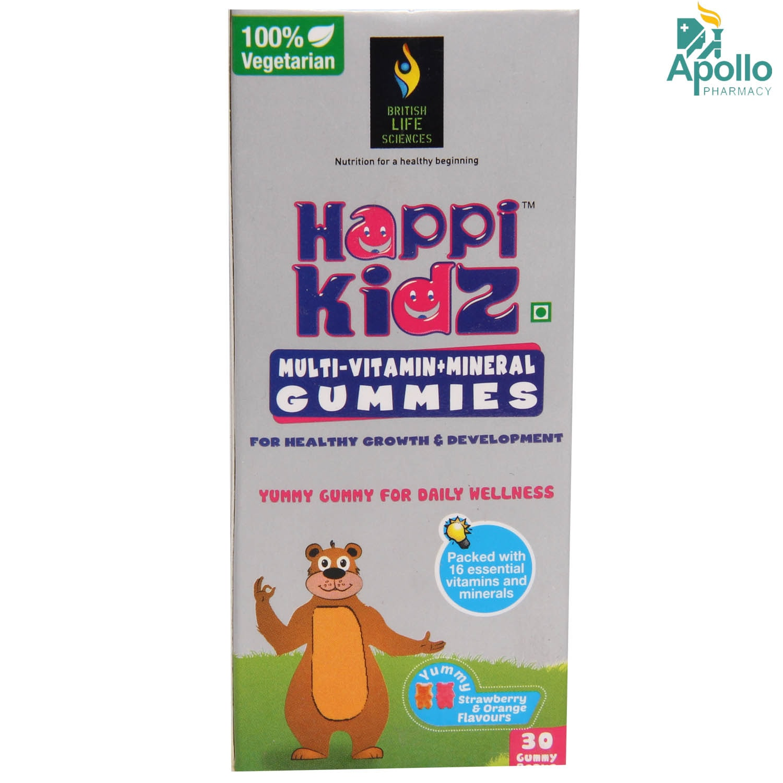 Happi Kidz 75gm Strawberry&Orange Flav Gummies 30's