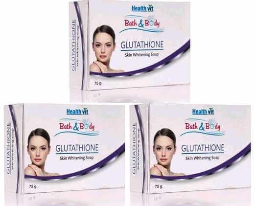 HealthVit Bath & Body Glutathione Soap, 75 gm (Pack of 3)
