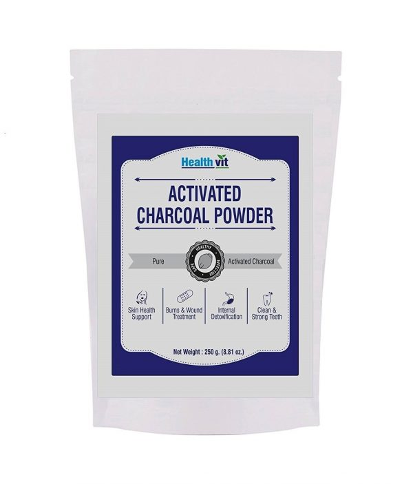 HealthVit Activated Charcoal Powder, 250 gm