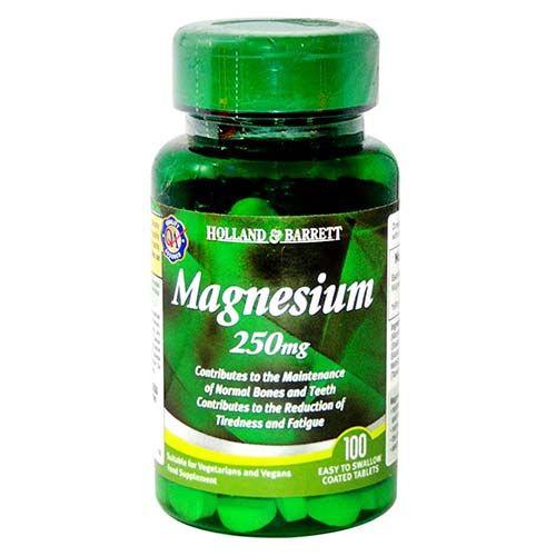 Holland & Barrett Magnesium 250 mg, 100 Tablets