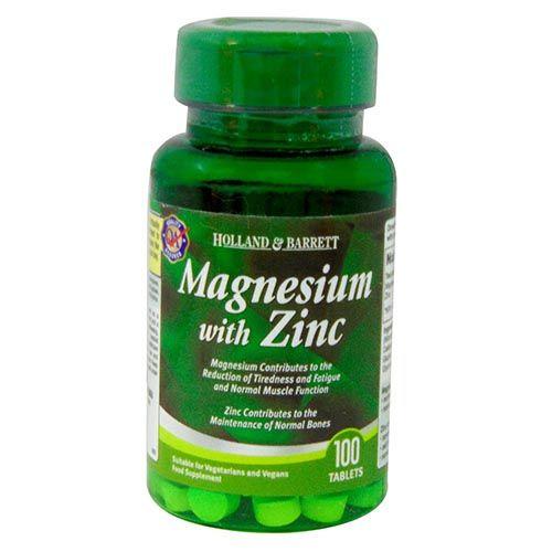 Holland & Barrett Magnesium With Zinc, 100 Tablets