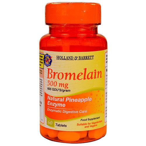 Holland & Barrett Bromelain 500 mg, 60 Tablets