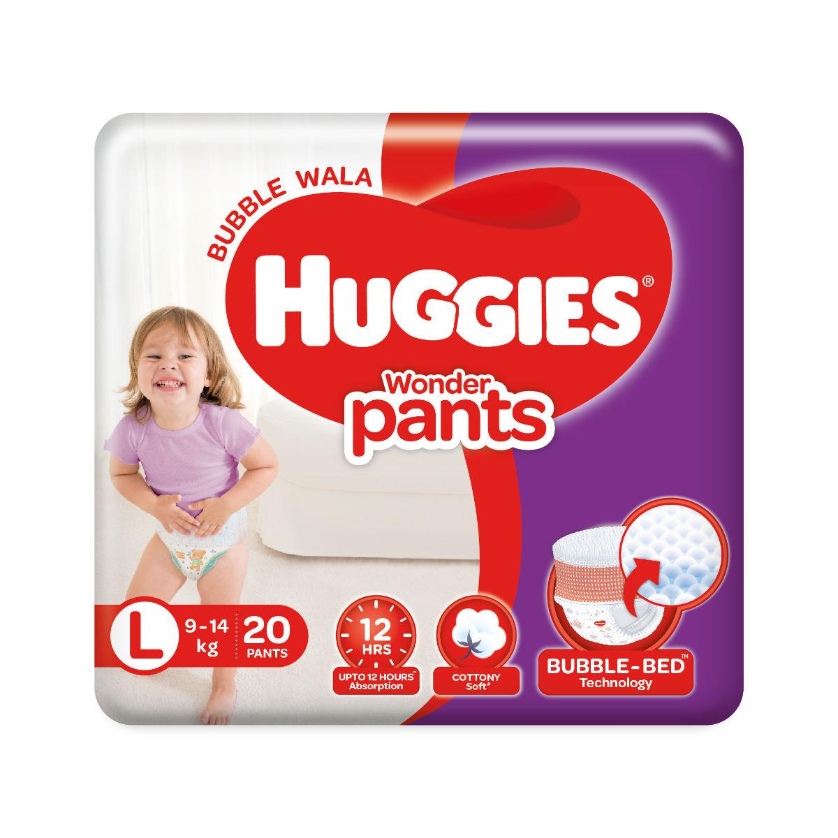 Huggies Wonder Baby Diaper Pants Large, 20 Count