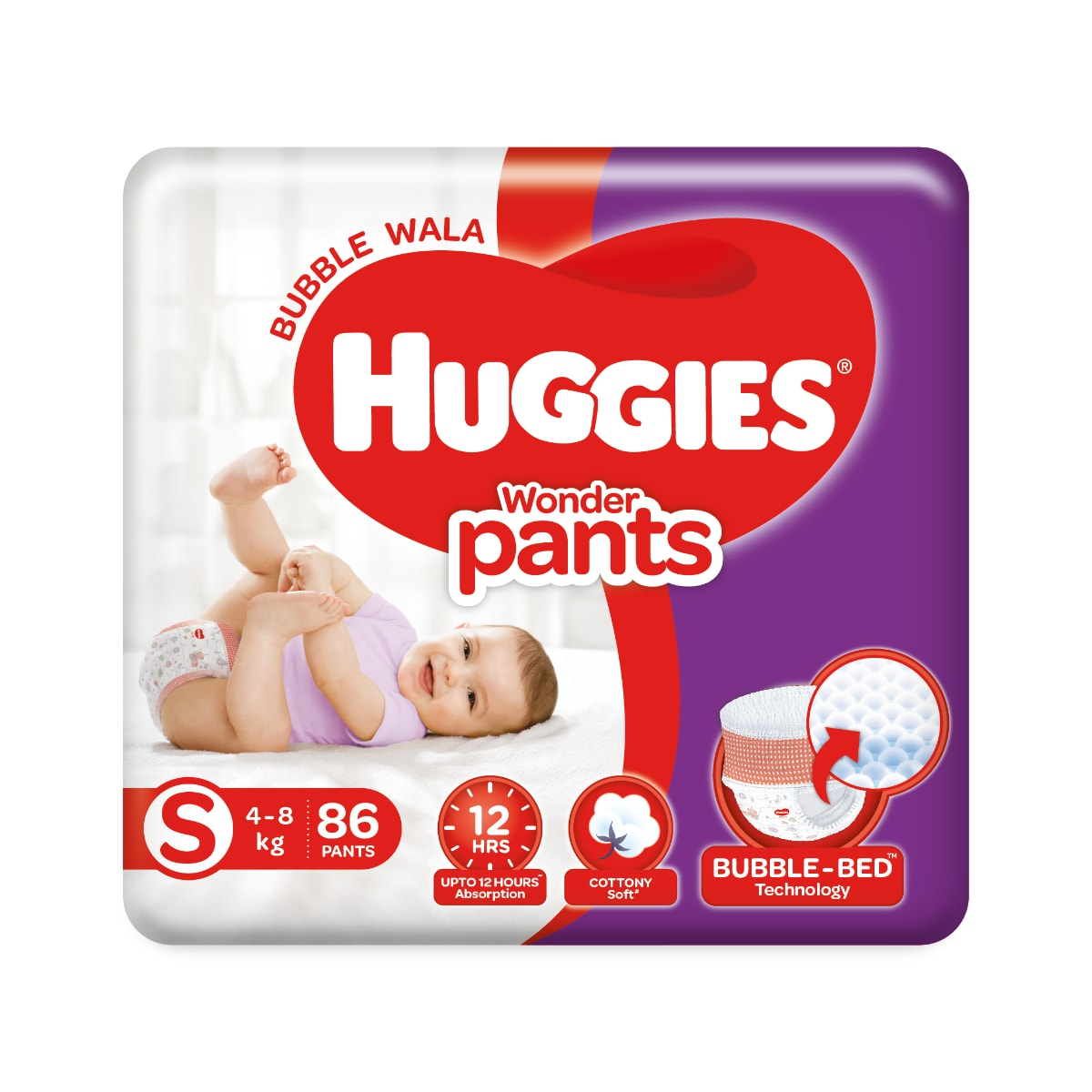 Huggies Wonder Baby Diaper Pants Small, 86 Count