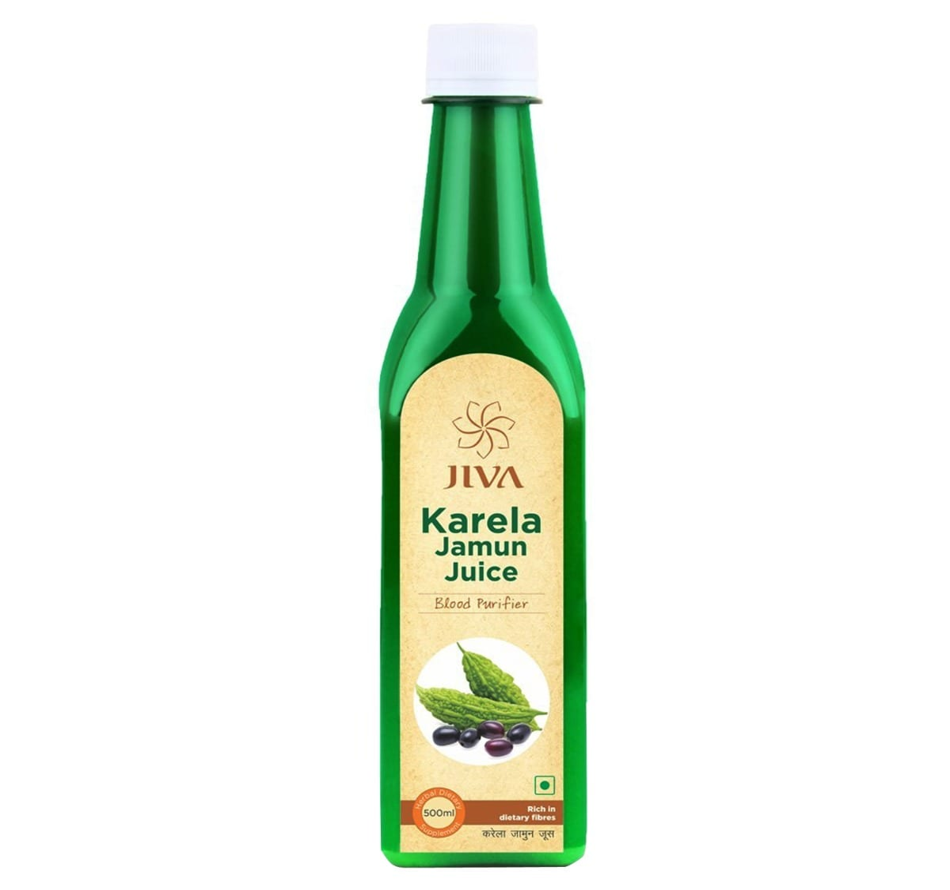 Jiva Karela Jamun Plus Juice, 500 ml