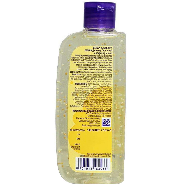 Clean & Clear Morning energy Lemon Face Wash, 100 ml